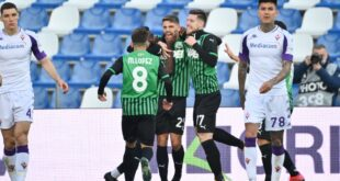VIDEO – Gli highlights di Sassuolo-Fiorentina 3-1