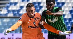Sassuolo-Atalanta 1-1 in numeri e statistiche: contro i bergamaschi i neroverdi non facevano punti dal 2017