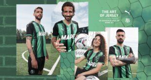 Sassuolo: presentata ufficialmente la Maglia Home 2021/2022