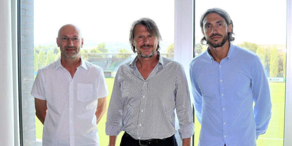 Filippo Baiocchi ed Emmanuel Cascione con Francesco Palmieri