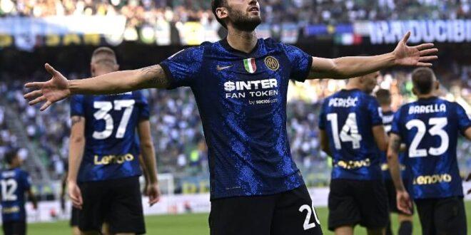 calhanoglu inter gol esultanza