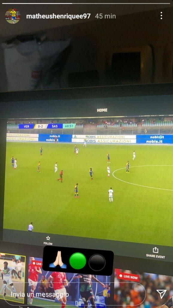 Matheus Henrique Hellas Verona Sassuolo 2-3