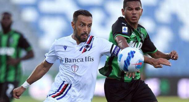 sassuolo-sampdoria 0-0 rogerio quagliarella